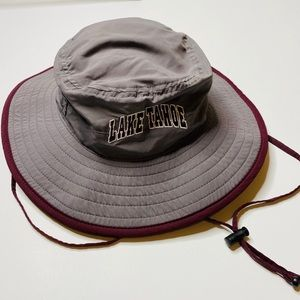 The Game Bucket Hat Lake Tahoe Gray Maroon